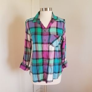 AE Vintage Boyfriend Plaid Shirt